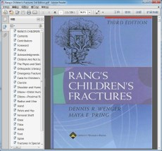 "Rang""s Children""s Fractures 3rd Edition"